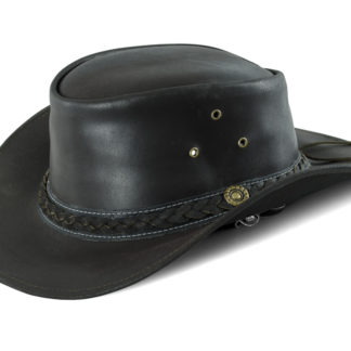 Chapeau en cuir marron